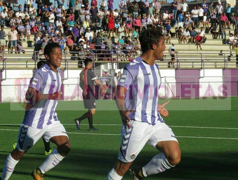 Juan Camilo Becerra debutó con gol en el Valladolid Promesas